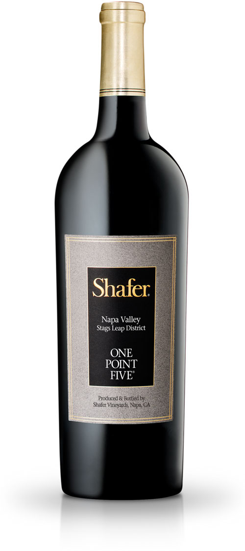 Shafer One Point Five wine bottle