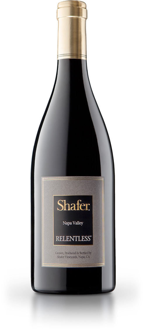 Shafer Relentless Syrah wine bottle